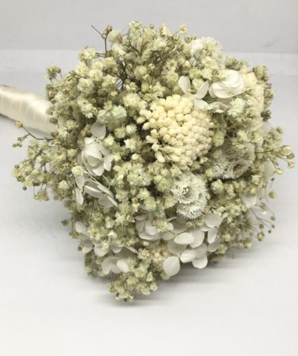 Bouquet de la mariée Immortelle en fleurs stabilisées et séchées