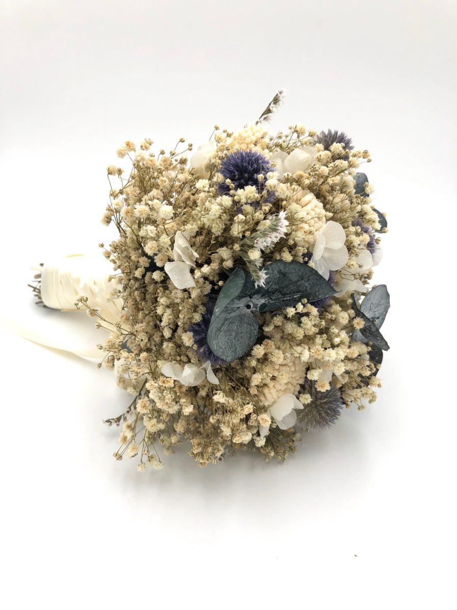 Bouquet de la mariée en fleurs séchées et stabilisées - Les Fleurs Dupont