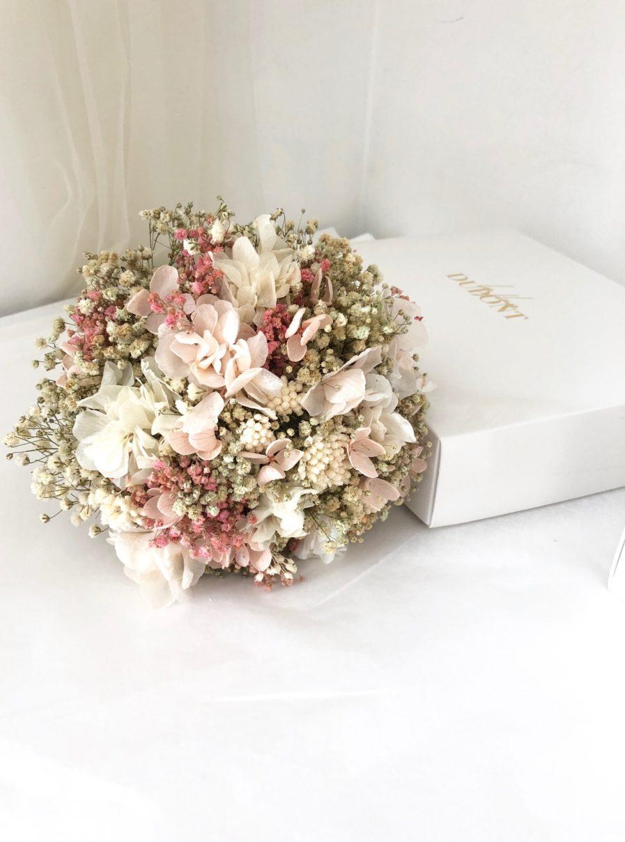 Bouquet de la mariée en fleurs stabilisées roses Candi - Pour la mariée