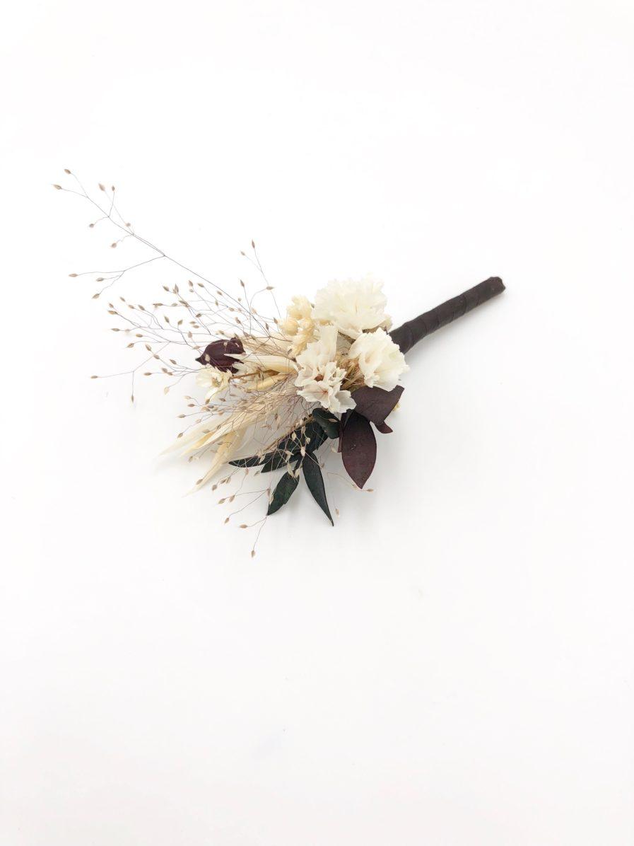 Boutonnière de mariage Ebora - Les Fleurs Dupont - Collection Folk