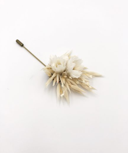 Boutonnière en fleurs Auguste - Mariage Folk - Les Fleurs Dupont
