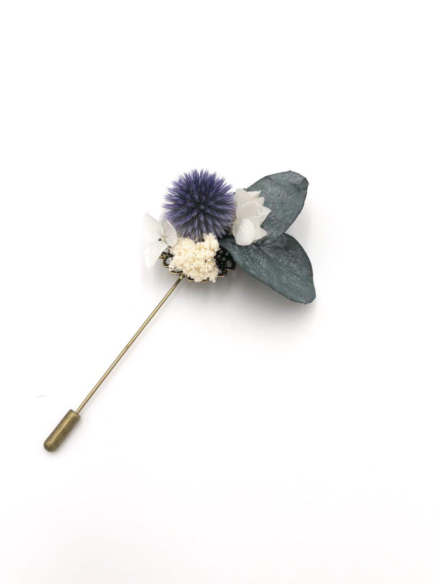 Boutonnière en fleurs Céleste - Les Fleurs Dupont - Pour le marié