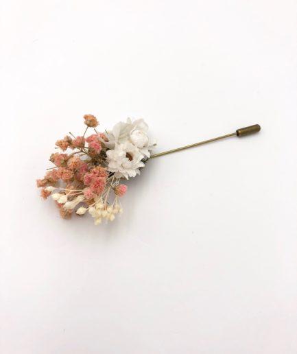 Boutonnière en fleurs Candi - Mariage romantique avec les Fleurs Dupont