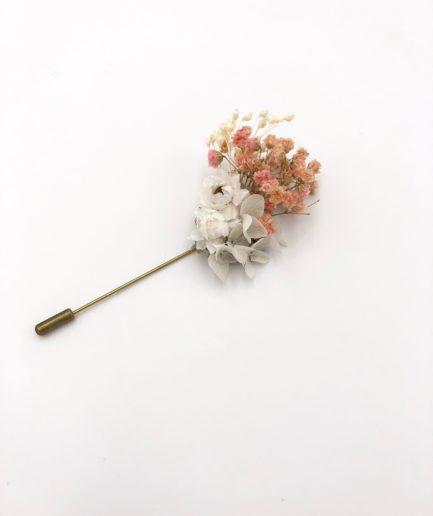 Boutonnière en fleurs Candi - les Fleurs Dupont - En fleurs stabilisées