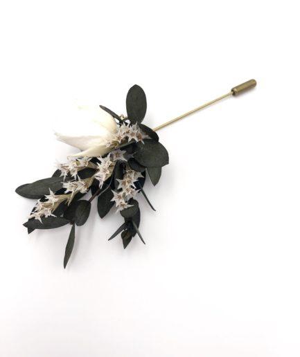 Boutonnière en fleurs Foglia - Les Fleurs Dupont - Fleurs stabilisées