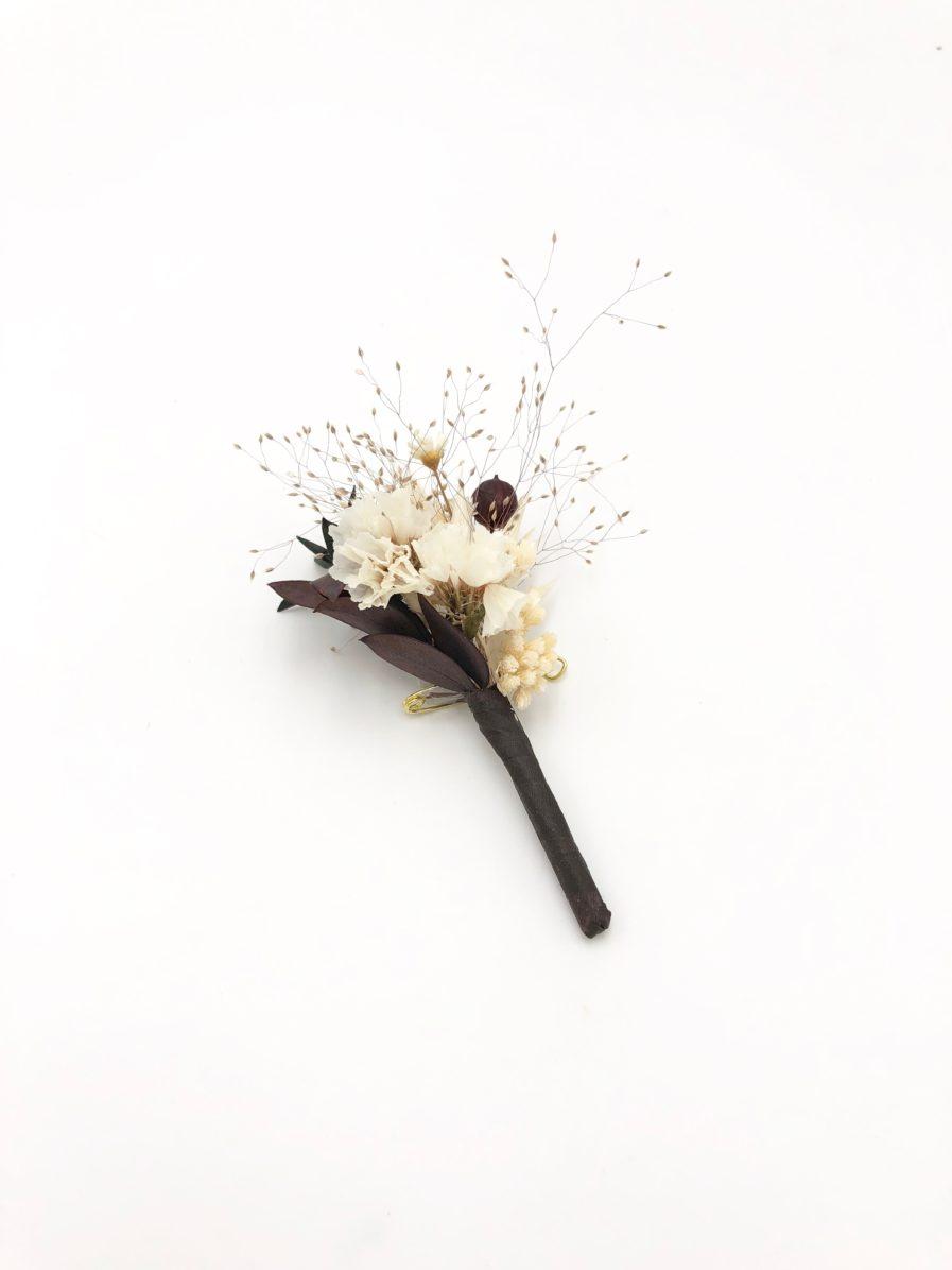 Boutonnière en fleurs séchées Ebora - Les Fleurs Dupont