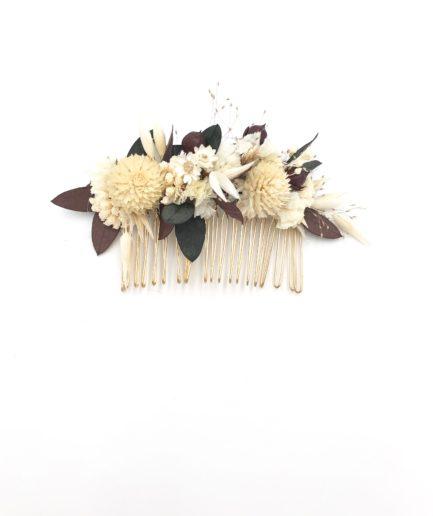 Peigne de fleurs Ebora en fleurs séchées