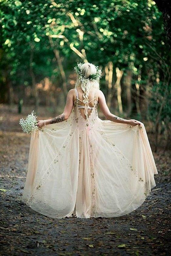 Robe de mariage folk - Myaphotography.fr - Les Fleurs Dupont