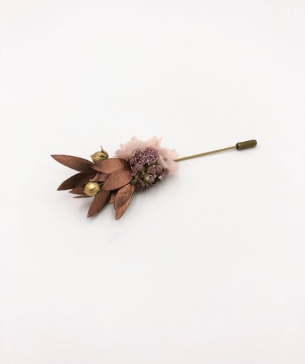 Boutonnière broche Phyra - Les Fleurs Dupont