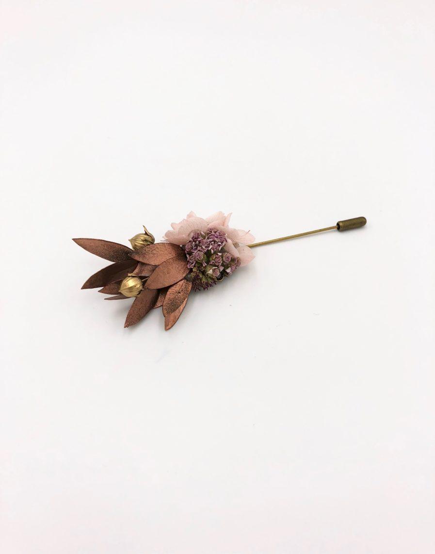 Boutonnière broche Phyra - Les Fleurs Dupont