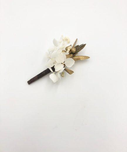 Boutonnière de mariage Ori - Les Fleurs Dupont
