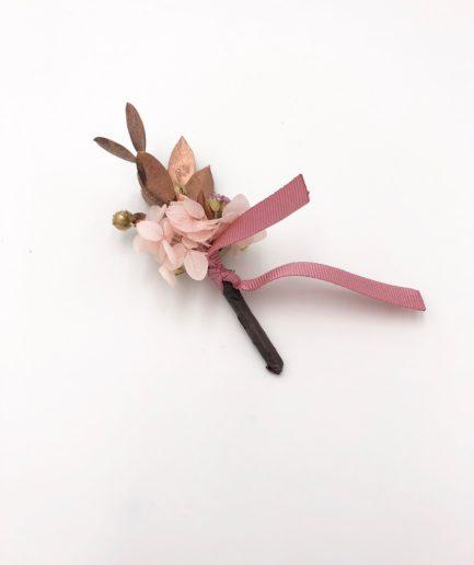 Boutonnière de mariage Phyra - Les Fleurs Dupont - Collection Orichalque
