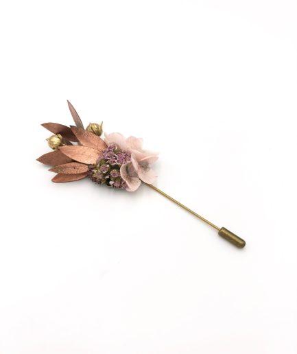 Boutonnière en fleurs Phyra - Fleurs séchées et stabilisées