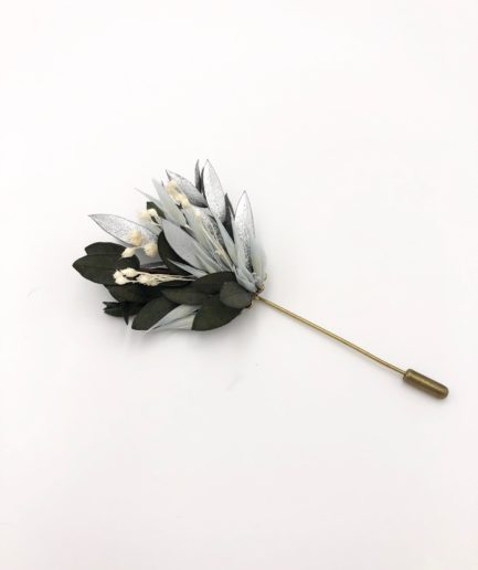 Boutonnière en fleurs séchées Turquin - Les Fleurs Dupont