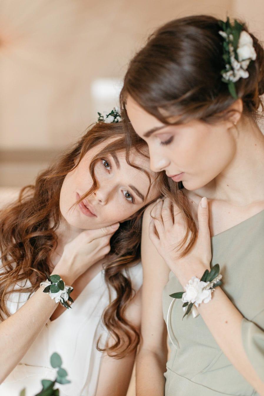 Bracelet avec rose stabilisée Elaia
