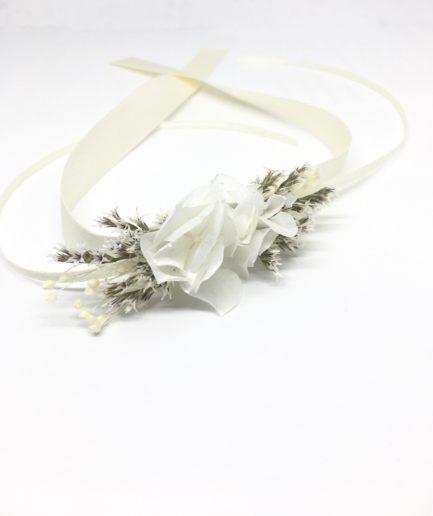 Bracelet de demoiselle d'honneur Aster en fleurs stabilisées