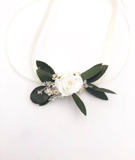 Bracelet de demoiselle dhonneur Elaia - Olivier stabilisé - Les Fleurs Dupont