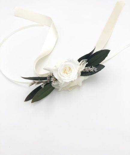 Bracelet de demoiselles d'honneur en fleurs Elaia - Feuilles d'olivier
