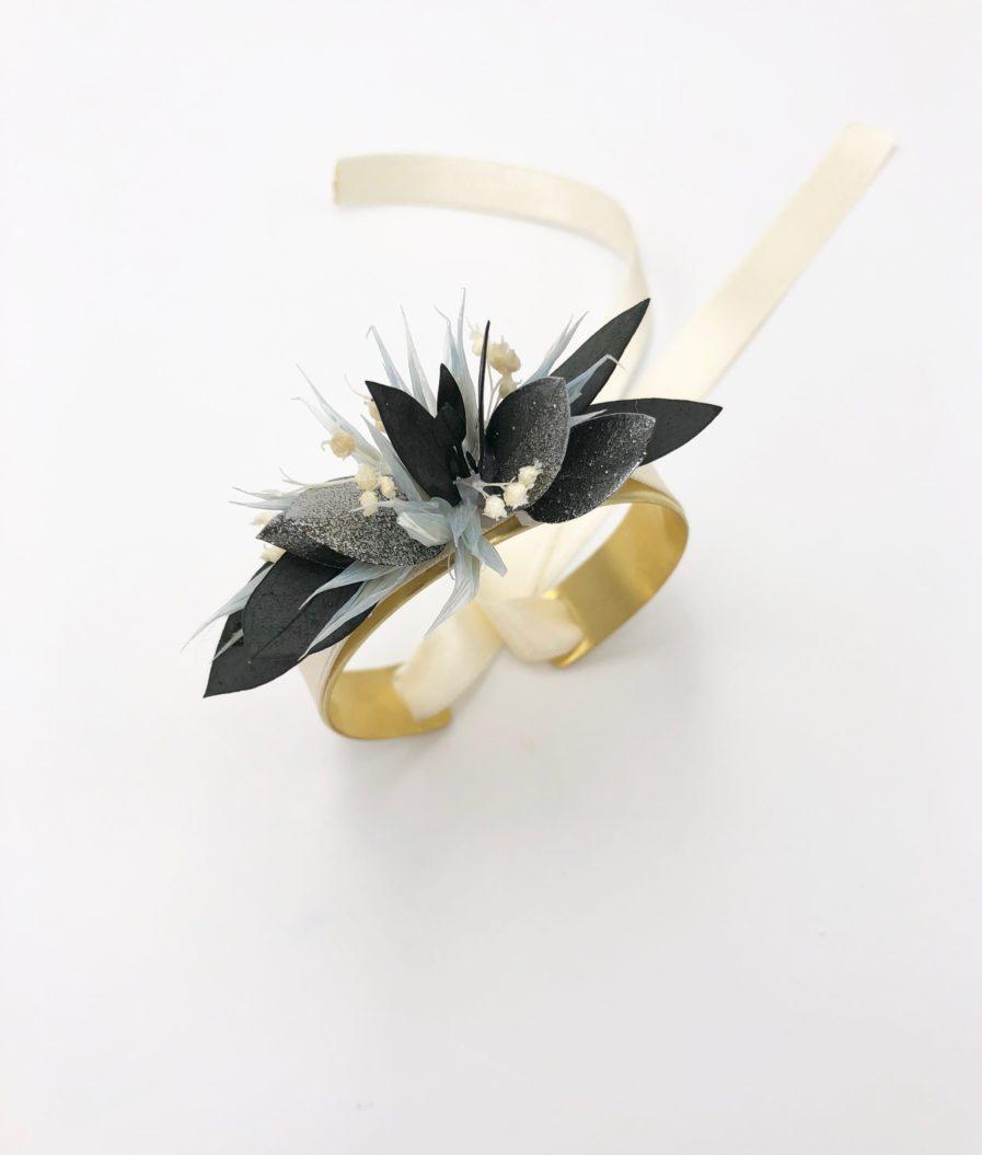 Bracelet jonc fleuri Turquin - Les Fleurs Dupont