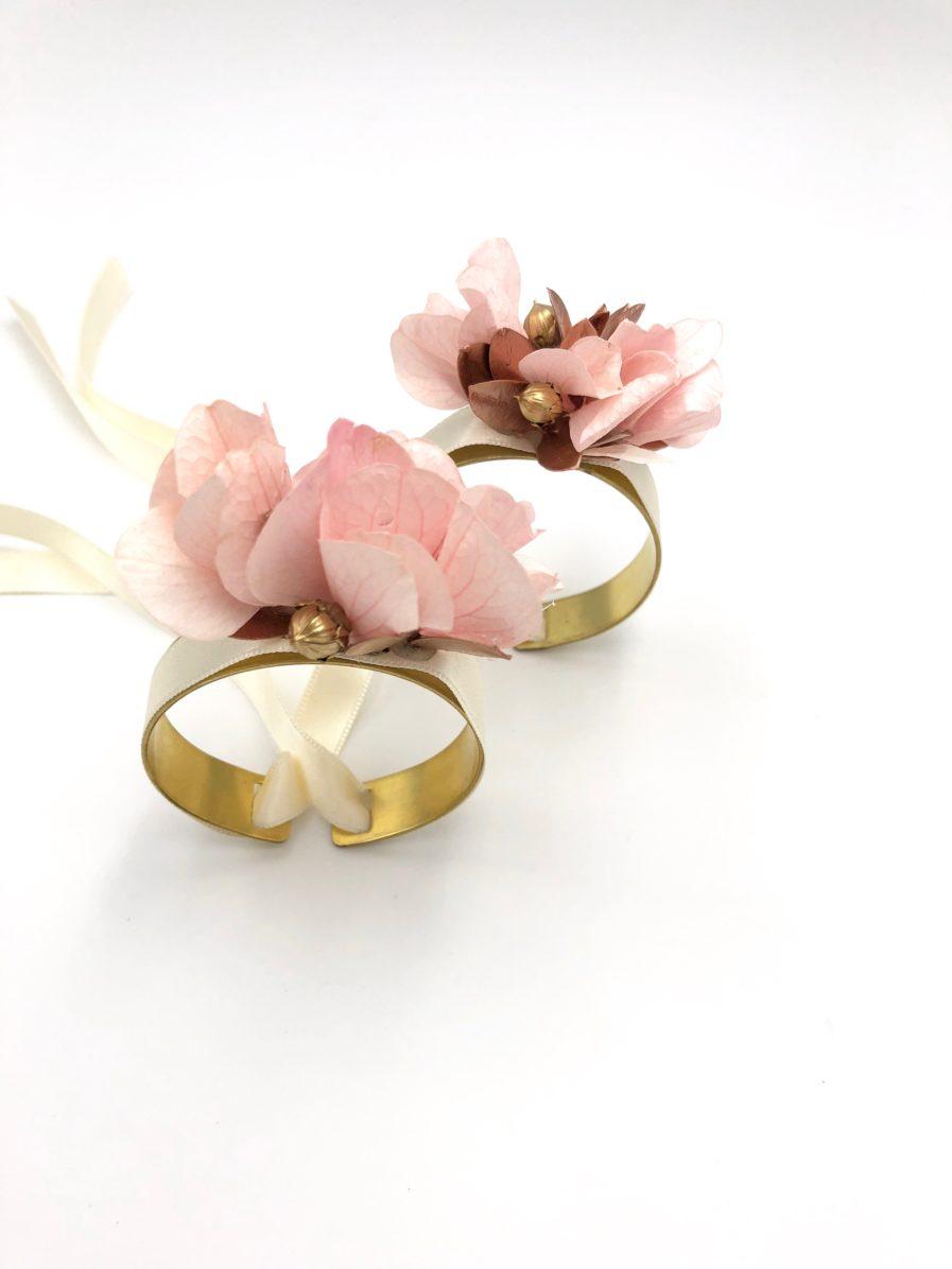 Bracelets pour demoiselles d'honner en fleurs Phyra - Les Fleurs Dupont
