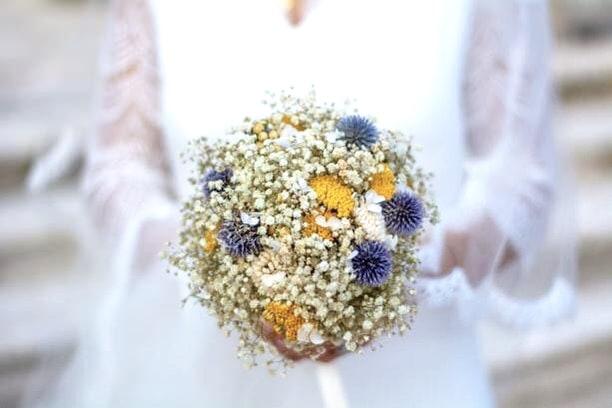 Bouquets de la mariée en fleurs séchées - les Fleurs Dupont