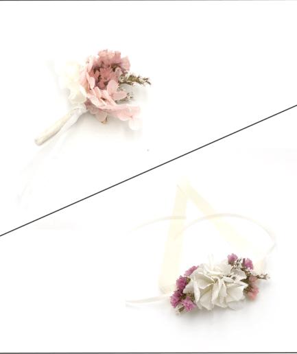 Box cortège Lilla en fleurs séchées et stabilisées