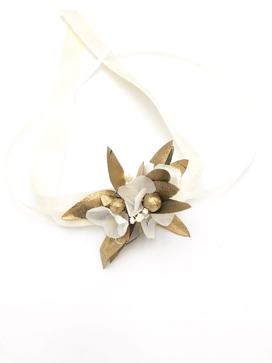 Bracelet de demoiselles d'honneur Ori en fleurs stabilisées