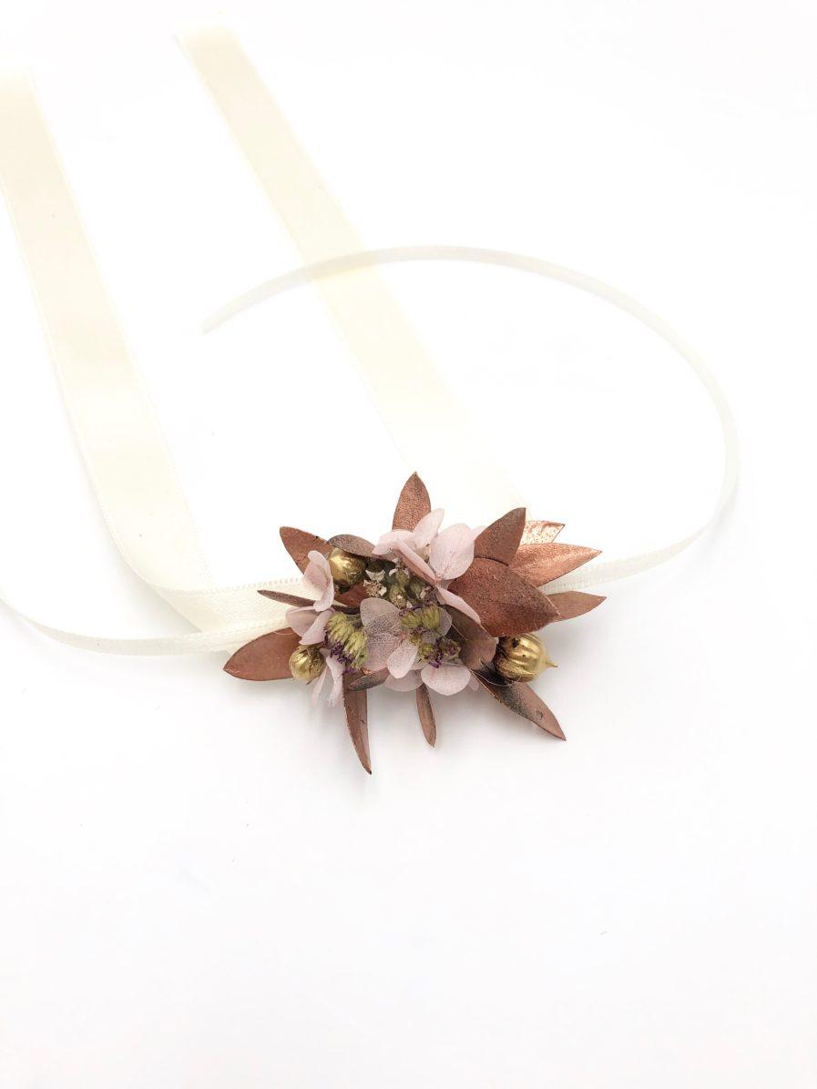 Bracelet de demoiselles d'honneur Phyra - Les Fleurs Dupont - Collection Orichalque
