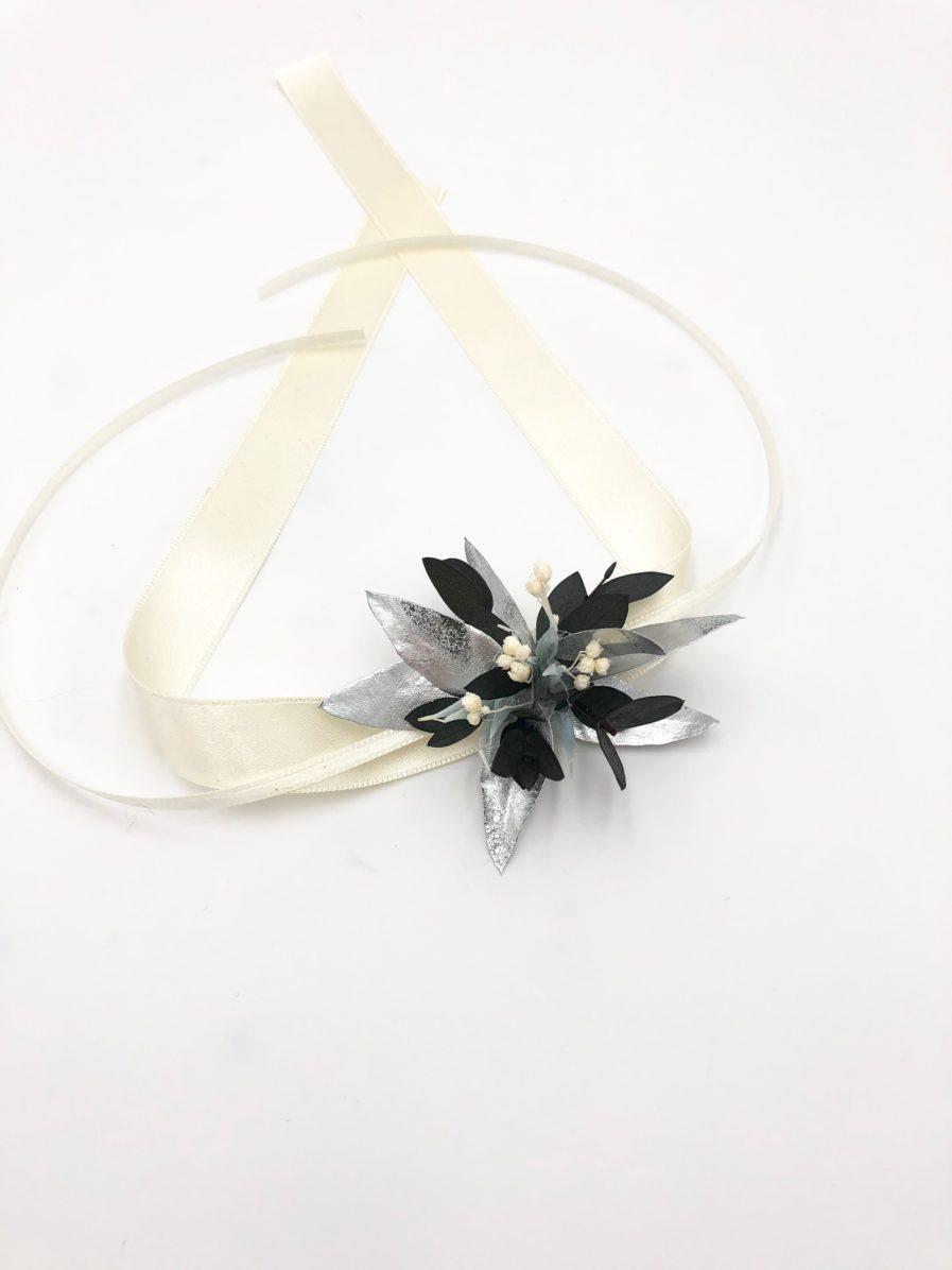 Bracelet de demoiselles d'honneur Turquin en fleurs séchées