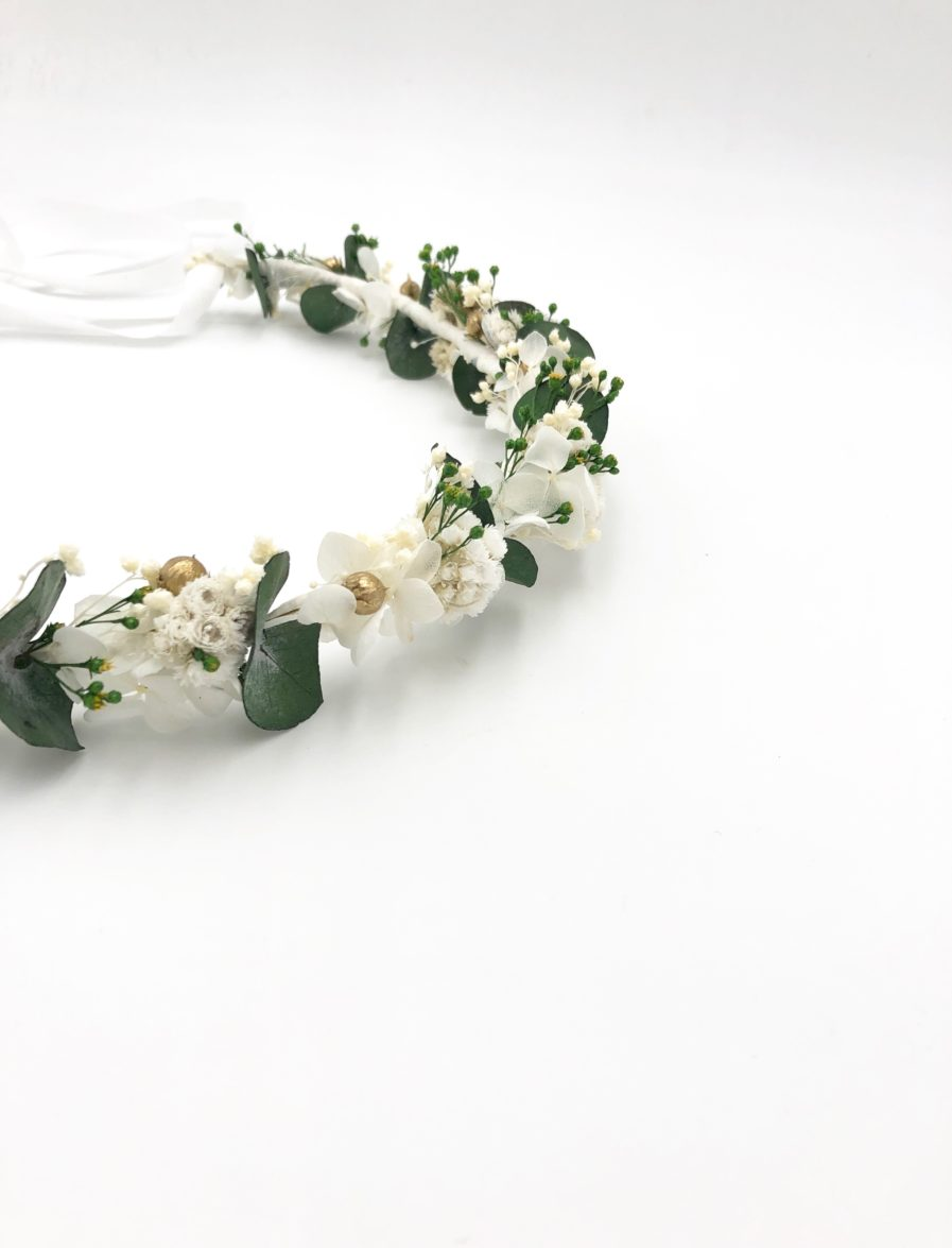 Couronne de fleurs Minthé pour la mariée chic et champêtre