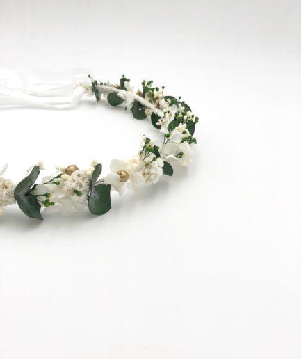 Couronne de fleurs séchées Minthé - Collection Végétale