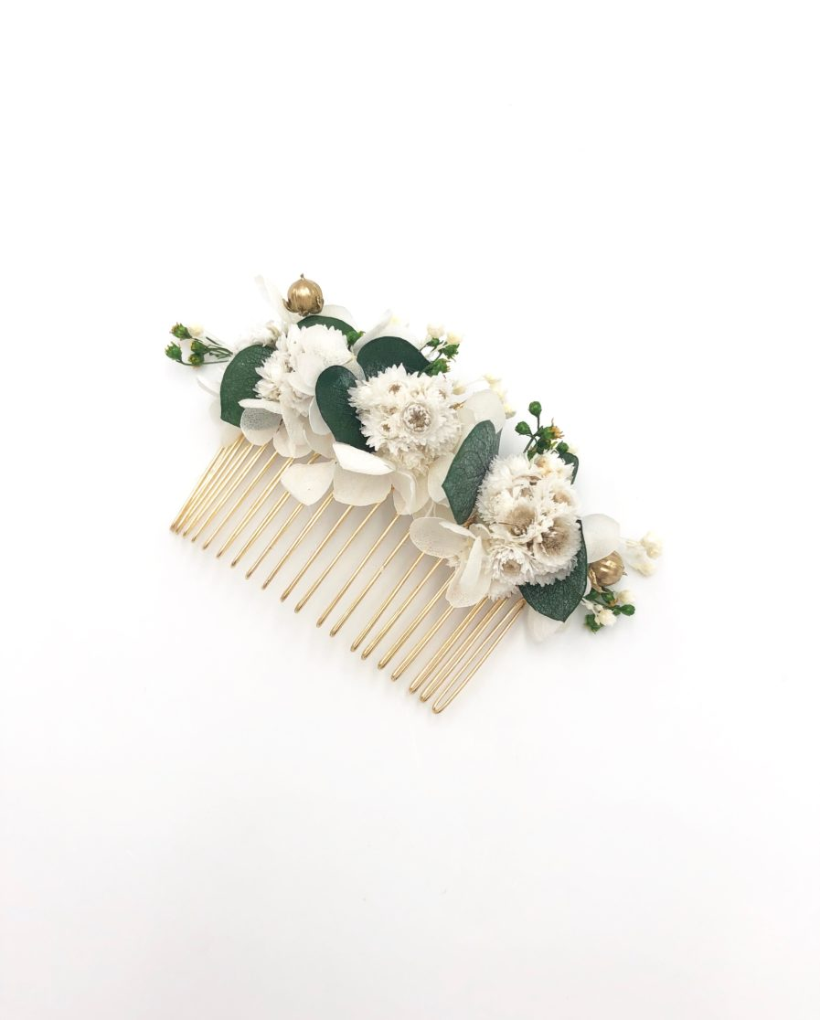 Peigne de fleurs Minthé pour un mariage champêtre