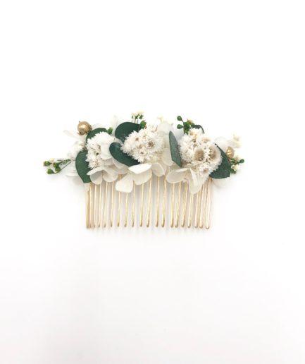 Peigne de fleurs stabilisées Minthé - Les Fleurs Dupont