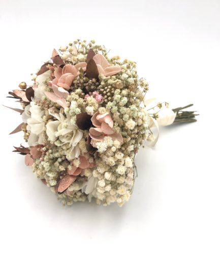 Bouquet de la mariée en fleurs stabilisées Phyra - Collection Orichalque