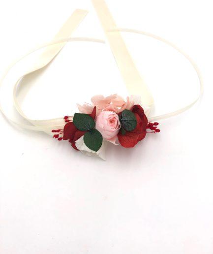 Bracelet de demoiselles d'honneur Arabesque en fleurs stabilisées