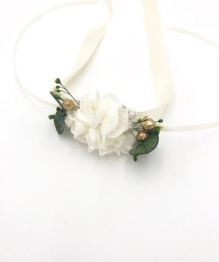 Bracelet de demoiselles d'honneur Minthé en fleurs stabilisées