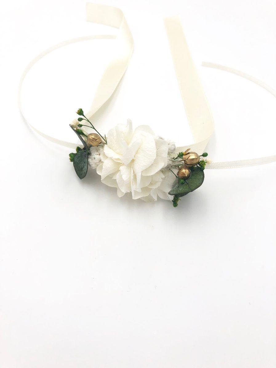 Bracelet de fleurs stabilisées Minthé - Les Fleurs Dupont