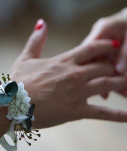 Bracelet en fleurs stabilisées Minthé - Mariée Ana Maria