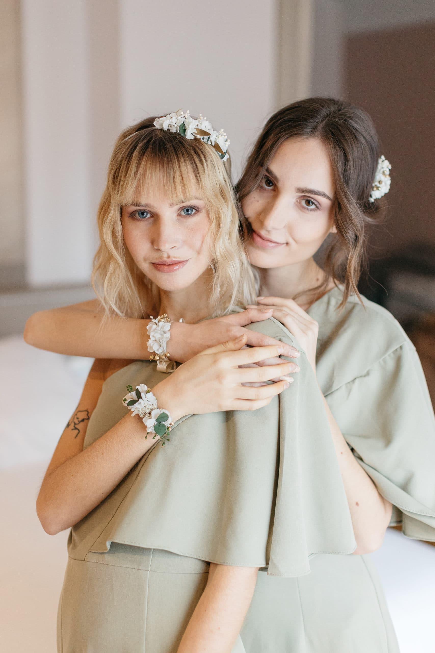Bracelet en fleurs stabilisées Minthé