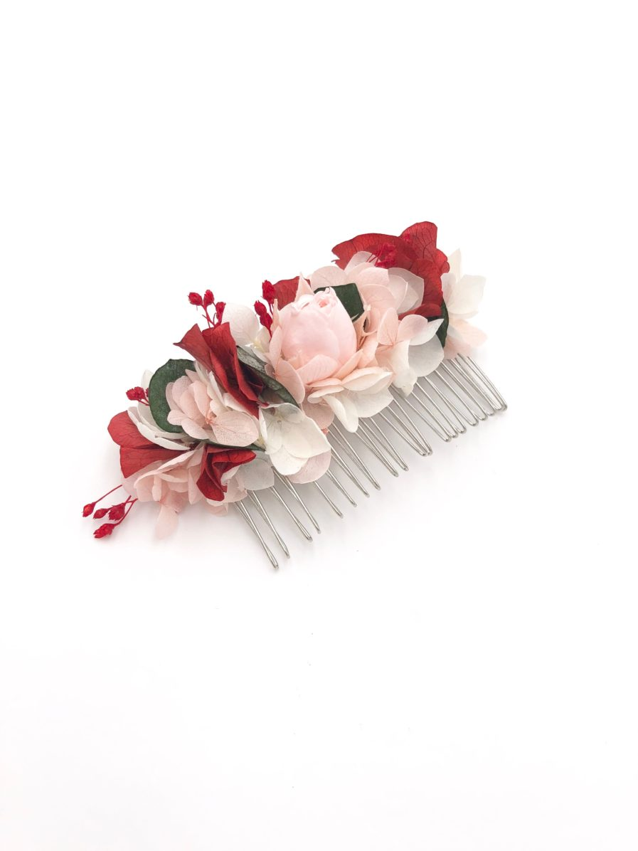 Peigne de fleurs stabilisées Arabesque - Les Fleurs Dupont - Collection Couture