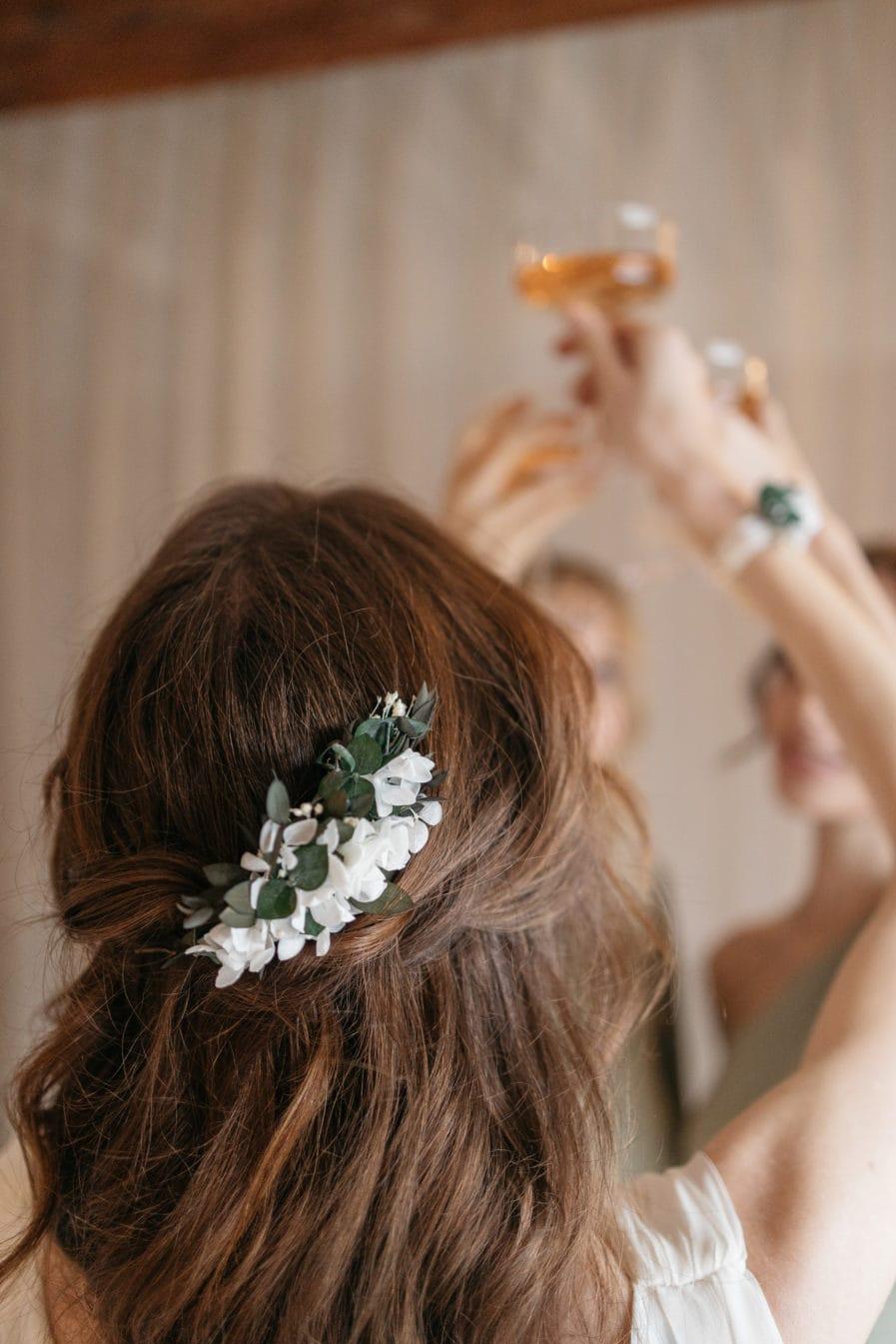 Peigne de fleurs stabilisées Foglia