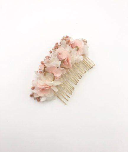 Peigne en hortensias stabilisé Candi doré - les Fleurs Dupont