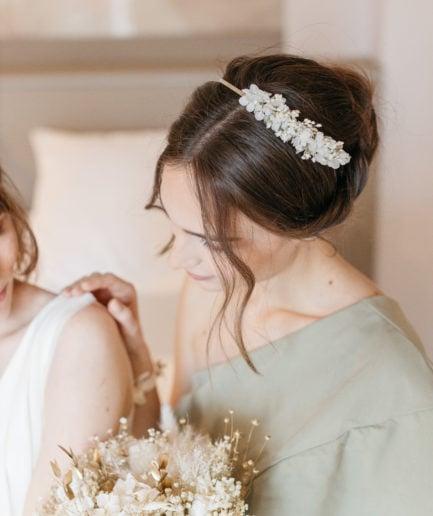 Bouquet de la mariée Ori en fleurs séchées