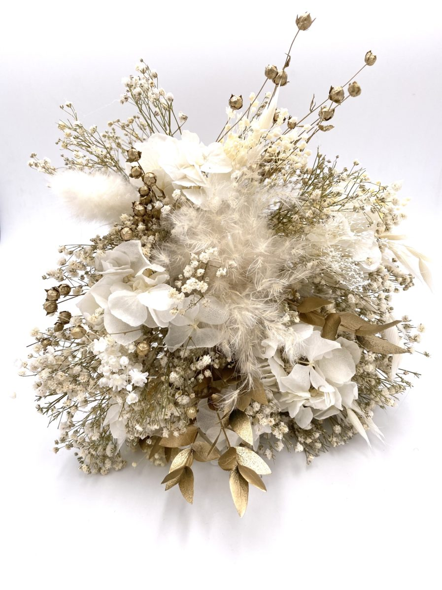 Bouquet en fleurs séchées Ori et stabilisées