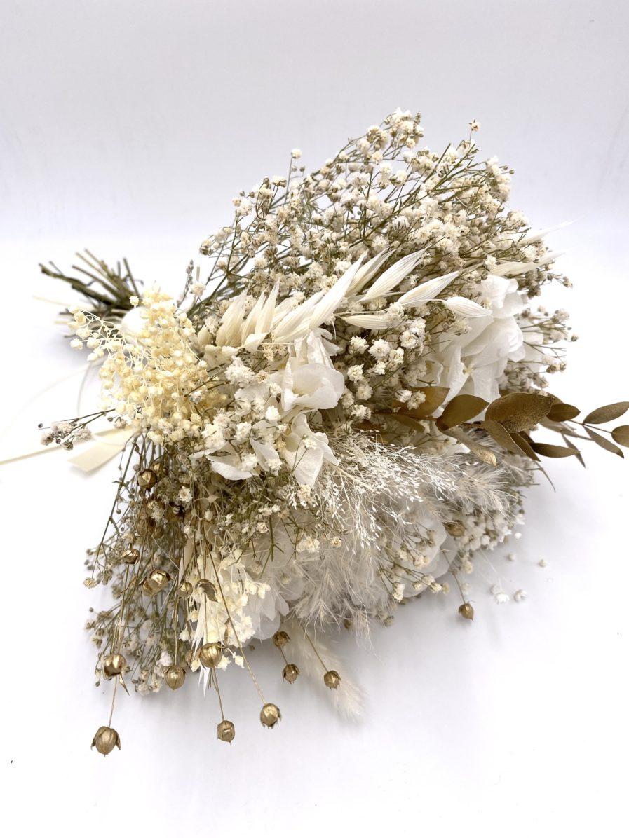 Bouquet en fleurs séchées dorées Ori