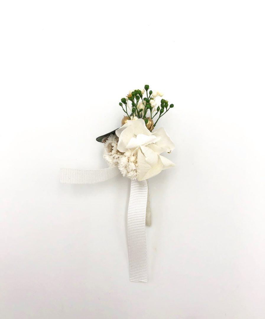 Boutonnière en fleurs séchées Minthé