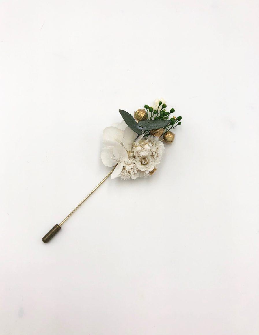 Boutonnière broche Minthé