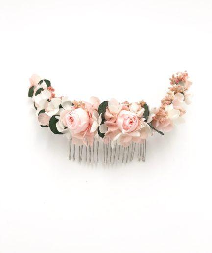 Peigne en fleurs stabilisées Confetti long - Pour les mariages romantiques