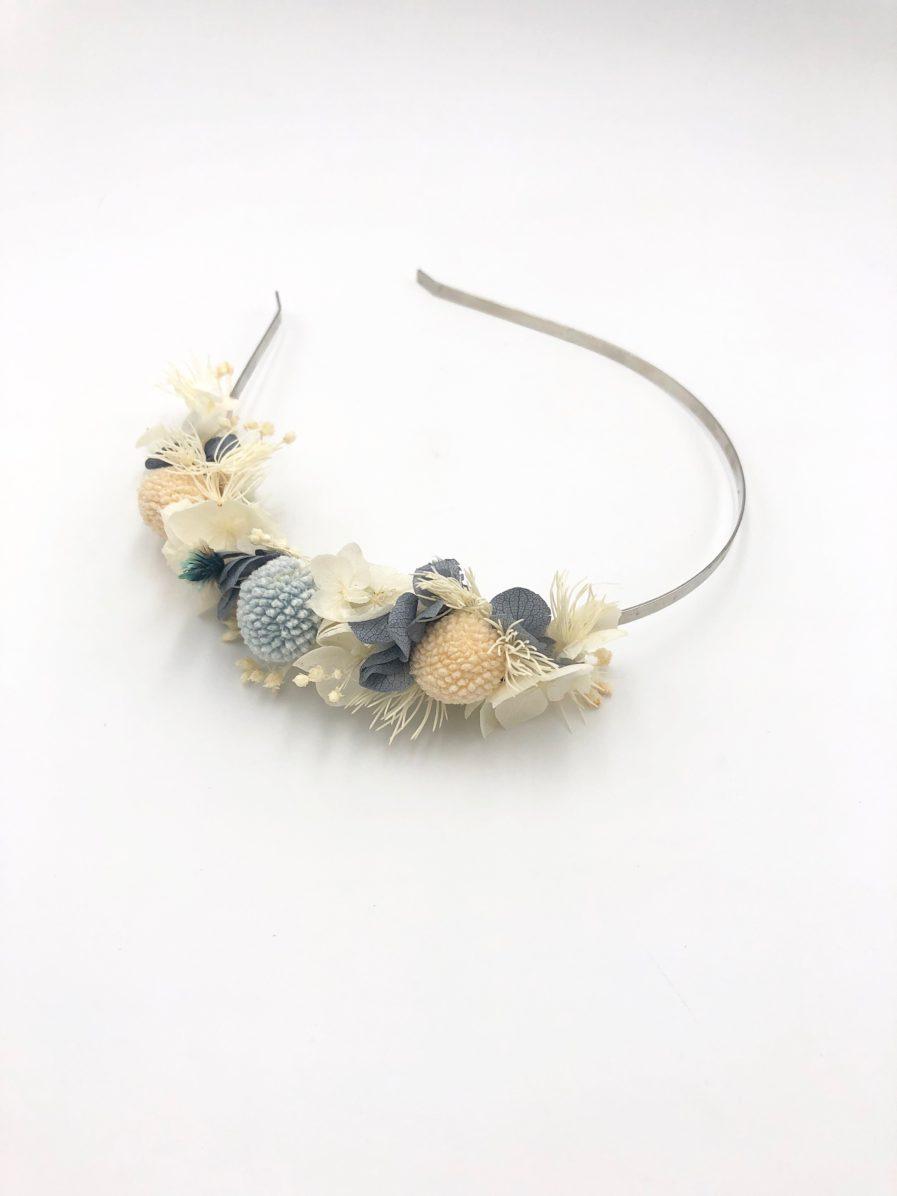 Headband de fleurs stabilisées Horizon - Les Fleurs Dupont