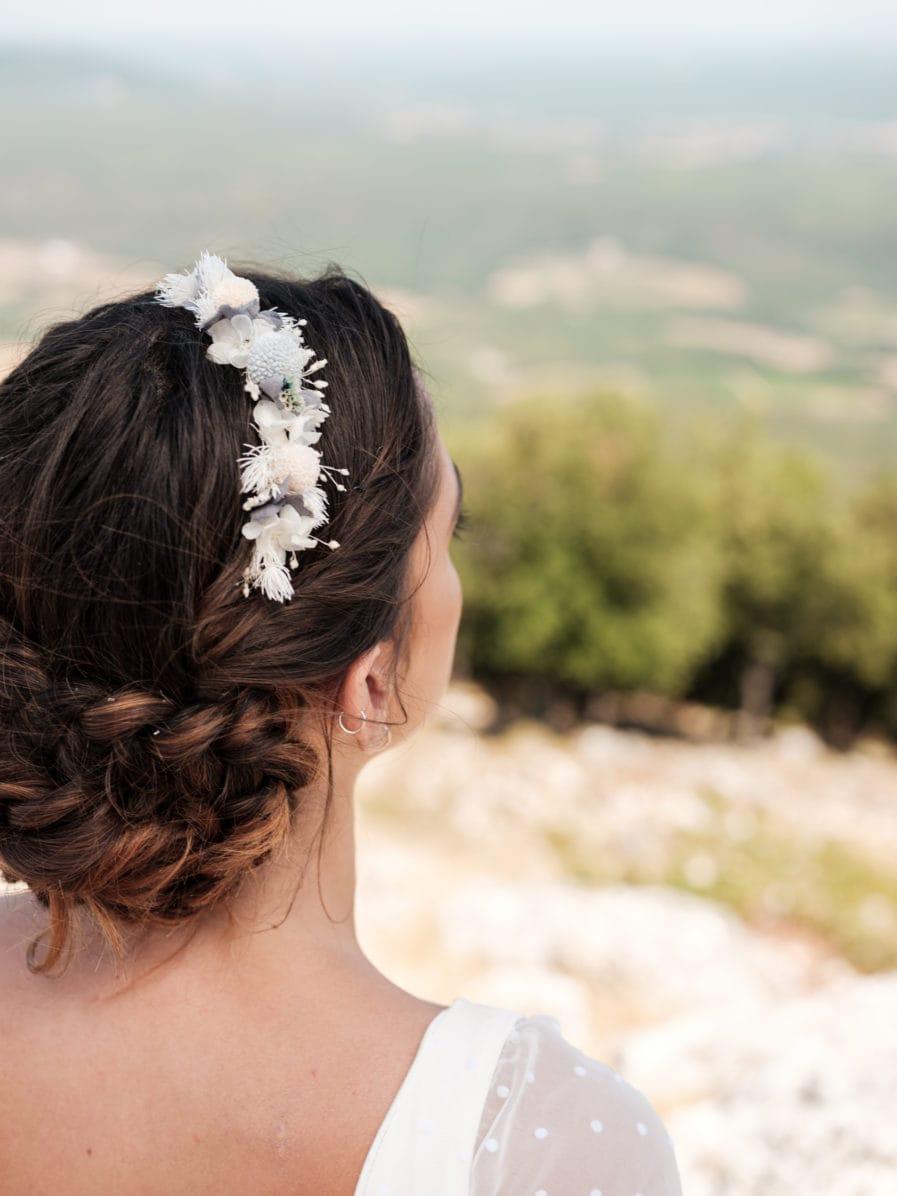Headband de fleurs stabilisées Horizon - Les Fleurs Dupont - Mariages 2020